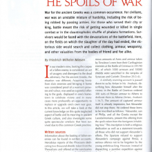 "Artikel ""The Spoils of War"""